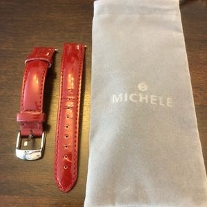 Lightly used 16mm Michele leather watch strap